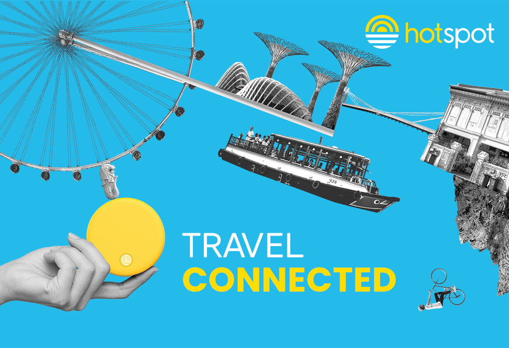 Travel connected with hotspot!